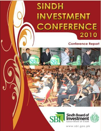 Sindh Investment Conference 2010 Comprehensive Report