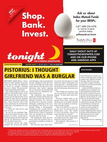Shop. Bank. Invest. - tonight Newspaper