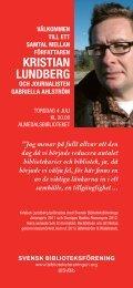 Almedalen flyer - Svensk Biblioteksförening