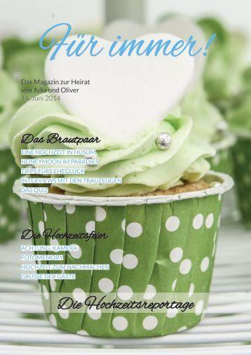Ja-Worte Hochzeitszeitung: Für immer! von Julia und Oliver