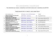Zoznam tém a školiteľov BAKALÁRSKYCH PRÁC na Ústave