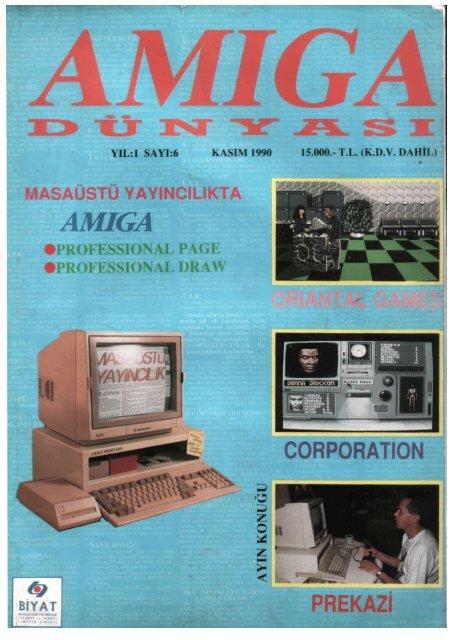 Amiga Dunyasi - Sayi 06 (Kasim 1990).pdf - Retro Dergi