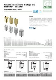 Valvole automatiche di sfogo aria MINICAL® – VALCAL - Caleffi