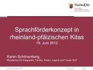 Rheinland-Pfalz - Frühe Chancen