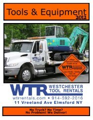 No Time? - Westchester Tool Rentals