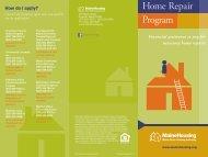 home Repair Program Brochure - Maine State Housing Authority