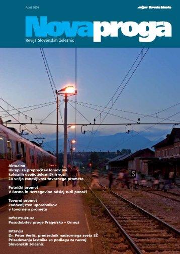 April - Slovenske železnice