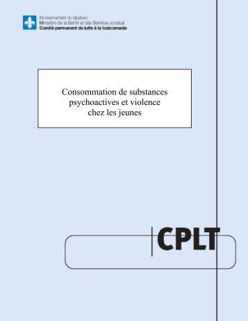 Consommation de substances psychoactives et violence chez les ...