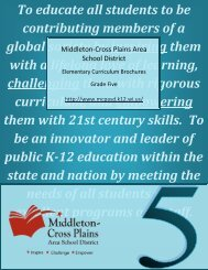 Fifth grade curriculum guide - Middleton Cross Plains Area School ...