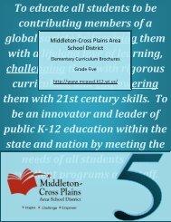 Fifth grade curriculum guide - Middleton Cross Plains Area School ...