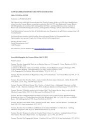 auswahlbibliographien der fontane blätter - Fontanearchiv