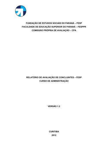 Roteiro para Proposta de Criação de Curso (Projeto) - FESP