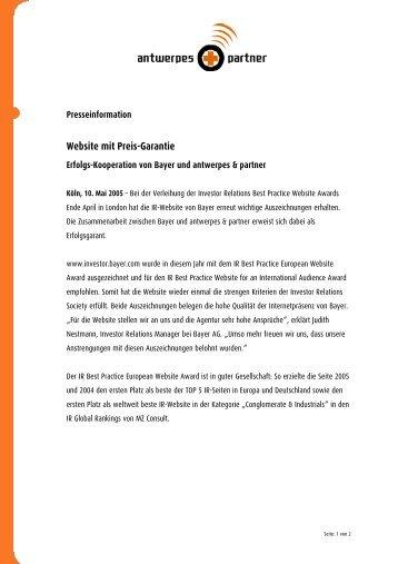 Website mit Preis-Garantie - DocCheck AG