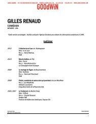 GILLES RENAUD - Agence Goodwin