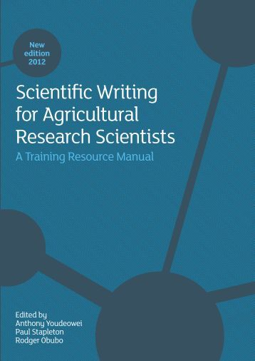 Agriculture researchers for writers