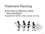 OJA CEI Treatment Plan Training