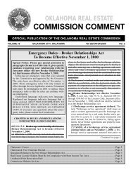 COMMISSION COMMENT - State of Oklahoma Web Site
