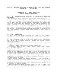 Food Safety Rules-TITLE 35. CHAPTER 37. Subchapter 3 Meat ...