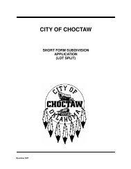 Lot Split (Short Form) - State of Oklahoma Web Site