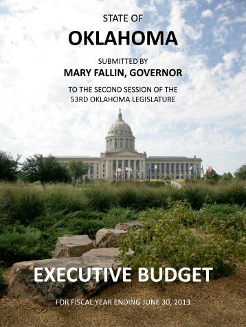 State of Oklahoma Fiscal Year 2013 Budget