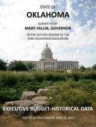 FY-2013 Executive Budget - Historical Document - State of Oklahoma