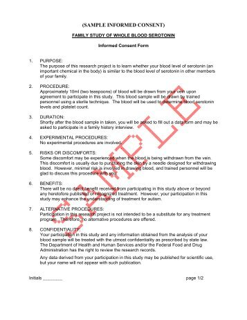 Informed Consent Example #2
