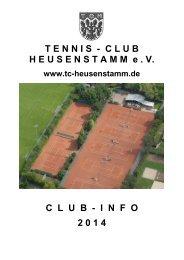 Club-Info TC Heusenstamm 2014