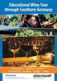 Educational Wine Tour through Southern Germany - Eberhardt Reisen