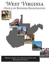 Office of Business Registration - State of West Virginia