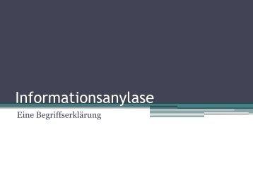Informationsanylase