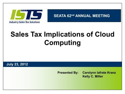 Virginia State Sales Tax >> Sales Tax Implications Of Cloud Computing State Of West
