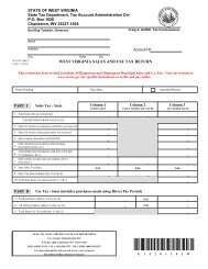 WEST VIRGINIA SALES AND USE TAX RETURN - State of West ...