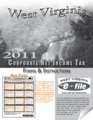 Corporate Net INCome tax - State of West Virginia