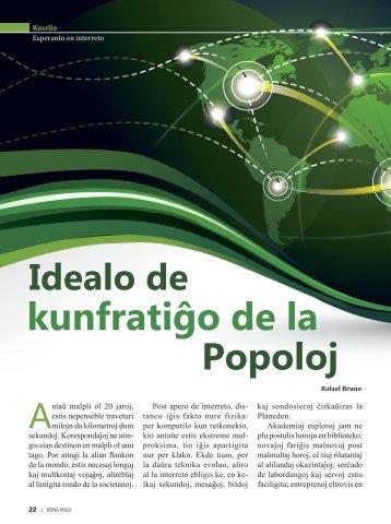 kunfratiĝo de la Idealo de Popoloj - Portal Boa Vontade