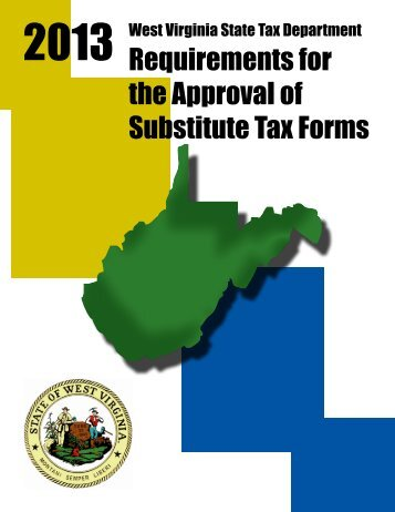 2012 Requirements for the Approval of Substitute Tax Forms