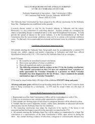 Health Requirements - Nebraska State Fair