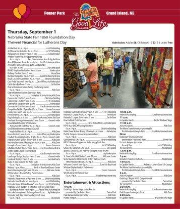 Thursday, September 1 - Nebraska State Fair