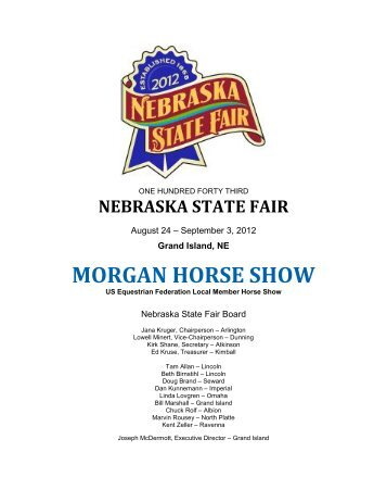 Morgan Horse Show - Nebraska State Fair