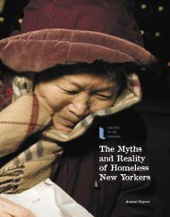 The Myths and Reality of Homeless New Yorkers