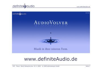 Messe-Vortrag von definiteAudio