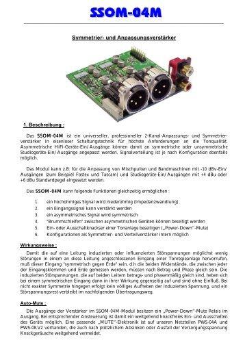 SSOM-04Ma INFO pdf 131kB - Funk Tonstudiotechnik