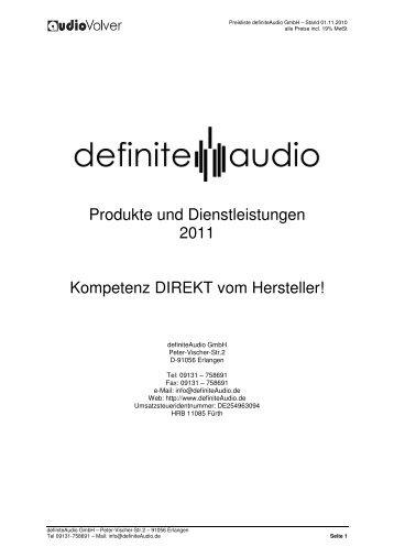 Produkte und Dienstleistungen 2010