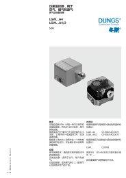 压差监控器,用于空气、烟气和废气LGW…A4 LGW…A4/2 - Dungs