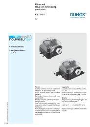 Klima seti Hava için fark basınç presostatı KS…A2-7 - Dungs