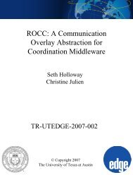 ROCC: A Communication Overlay Abstraction for Coordination ...