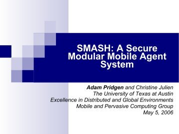 Slides - Mobile and Pervasive Computing Group - The University of ...