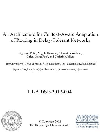 An Architecture for Context - Mobile and Pervasive Computing ...