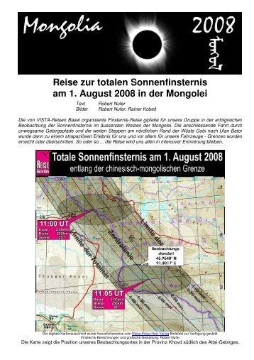Reise zur totalen Sonnenfinsternis am 1. August 2008 in der Mongolei