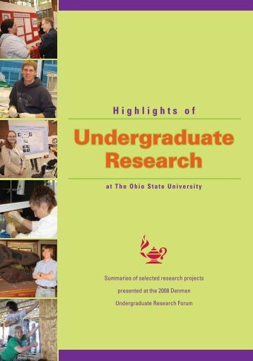 2008 - Undergraduate Research - The Ohio State University