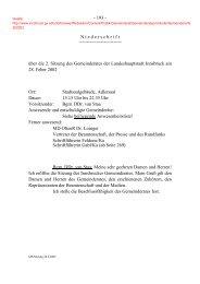 über die 2. Sitzung des Gemeinderates der Landeshauptstadt Innsbr